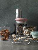 Various dried mushrooms