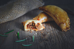 Empanadas with minced meat and raisins
