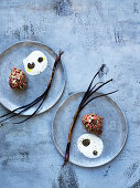 Beef tartare with grilled spring onions