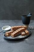 Grandma Mathilde's Königsstangen (sponge cake with whole almonds)