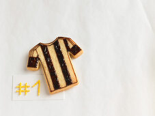 A football jersey biscuit