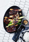 Beer, chilli and soy-braised beef short ribs