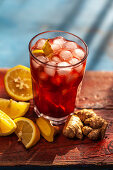 Campari cocktail with ginger