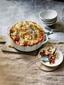 Lamb and rosemary ragu with pecorino crumb