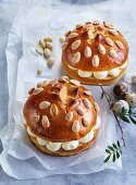 Easter breads filled with cream