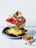 Grapefruit curd, white chocolate, amaretti crumble and caramelised meringue