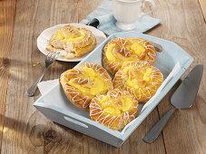 Danish pastry pudding pretzels