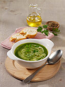 Soup made from spinach and celeriac