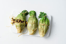 Stuffed chicory parcels