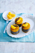 Poppy seed and orange tartlets