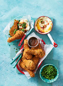 Southern-style baked crispy chicken drumsticks