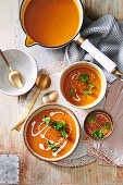 Japanese pumpkin soup