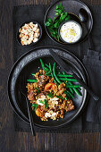 Slow-cooker Moroccan lamb with barley stew and green beans