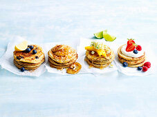 Pancake varieties with four toppings
