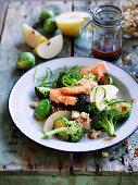 Broccoli and ocean trout salad