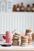 Christmas cookies, stacked