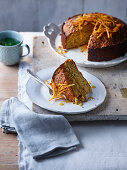 Moroccan orange, honey and chia seed cake
