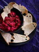 Beetroot humus