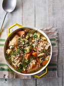 Super grain chicken casserole with parsnips and carrots