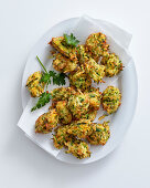 Italian-style courgette and smoked cheese fritters