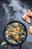 Kale salad with grapefruit and lemongrass-lime dressing
