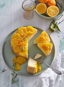 Cheesecake with citrus and rosemary