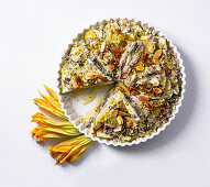 Sardine gratin with potatoes and courgettes