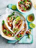 Fish Tacos with Tomato and Avocado Salsa