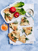 Cheat's Spinach and Cheese Gozleme