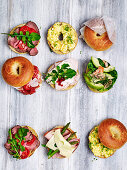 Lunch with bagels