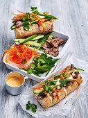 Lemon Grass Beef Banh Mi