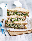 Roast Chicken, Seed and Rocket Sandwiches