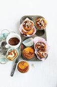 Nut nougat muffins