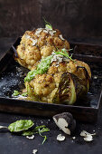 Baked cauliflower with truffle butter