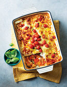 Vegeterian roast vegetable lasagne