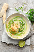 Cream of parsley root soup