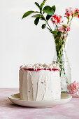 Vanilla and raspberry cake