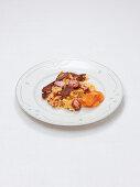 Eifeler Döppekooche (German potato cake with bacon made in a pot, Rhineland cuisine)