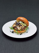Dry-aged beef burger with foie gras, porcini mushrooms and truffles