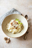 Risotto with white alba truffles and Parmesan (Italy)