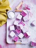 Blackberry marshmallows