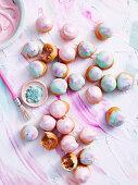 Chocolate hazelnut puffs