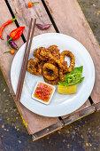 Fried calamari with sweet chilli sauce