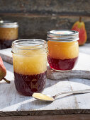 Elderberry-pear-jelly with cinnamon