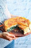 Spanakopita (Greek Spinach Pie with Feta)