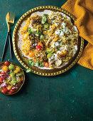 Ramadan lamb akhni and chicken biryani