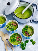 Cheat's pea and ham soup
