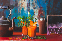 Carrot and ginger iced tea
