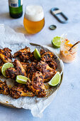 Sumac roasted chicken wings with lime