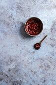 Gochujang in a bowl (Korean fermented chilli paste)